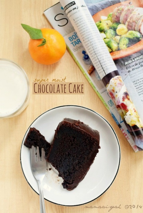 Sour Cream Chocolate Cake | Cake Coklat Moist tanpa Mixer