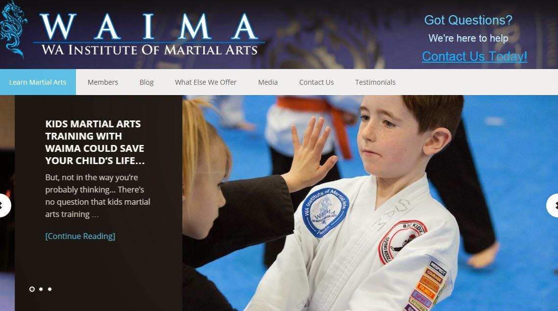 martial arts training at WAIMA