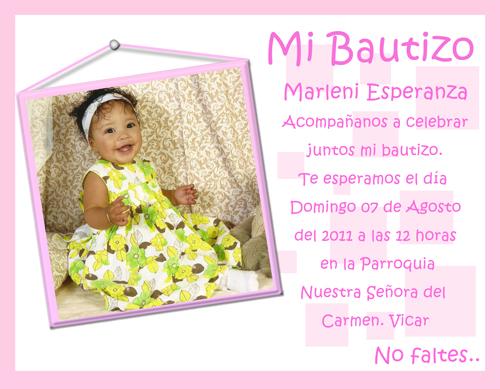 Invitaciones y Recuerdos para Bautizo