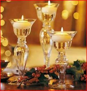 Centros de mesa con vasos y copas parte 1 for Adornos navidenos con copas y velas
