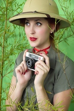 """Jungle Honey!"" starring Lucy V. at Pin-Up Wow!"