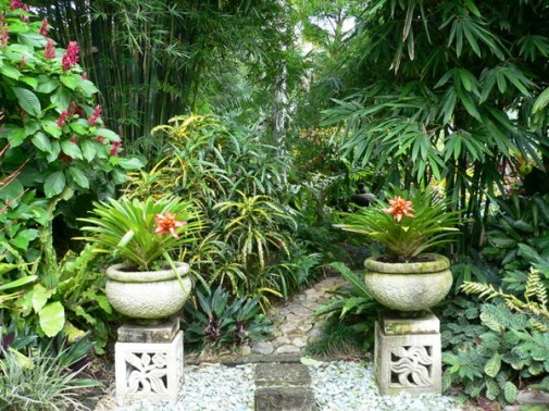 Garden designs style home designs plans for Bali garden designs