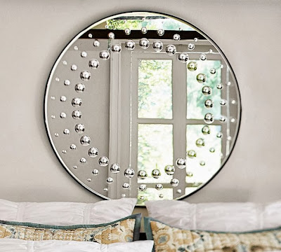 Restoration hardware 18th century venetian glass round for Restoration hardware round mirror