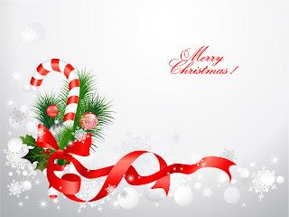 クリスマス リボン飾りの背景 christmas decorative イラスト素材