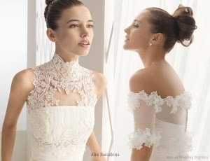 Modern Lace Wedding Dress Designs In The Neck