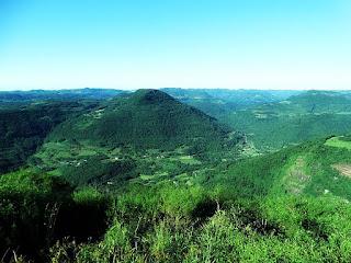 Vale visto do Morro do Diabo, em Carlos Barbosa.
