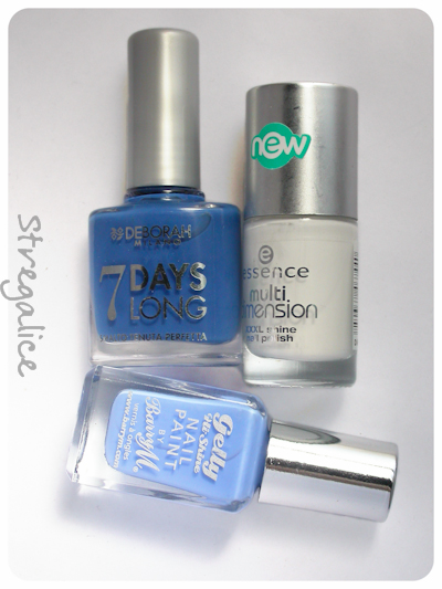 Deborah 829 Blue - Essence Perfectly True - Barry M Blueberry