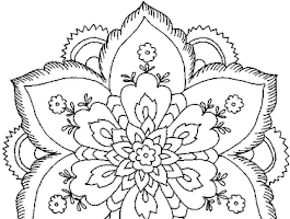 Design Printable Flower Coloring Pages
