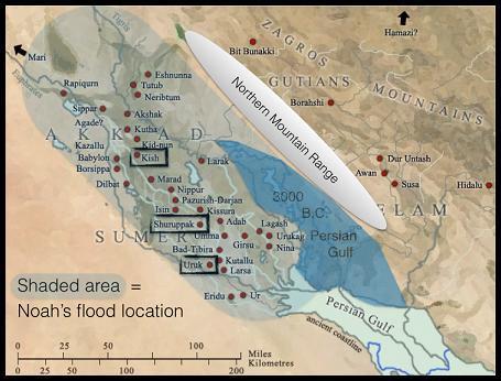Ziusudra, Noe, Diluvio universal, gran inundación, tsunami, sumeria, Shuruppak, Ur, Uruk, Kish, Mesopotamia