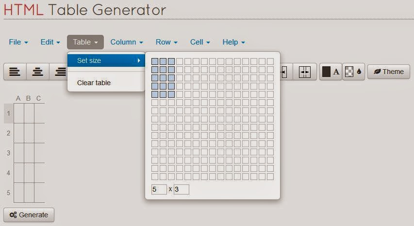 Setting Ukuran Tabel - Cara Cempat Membuat Tabel HTML