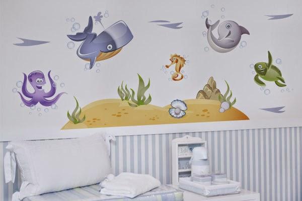 Ideias Decoração Adesivos de parede de bébé ~ Adesivos De Parede Para Quarto De Bebe Urso