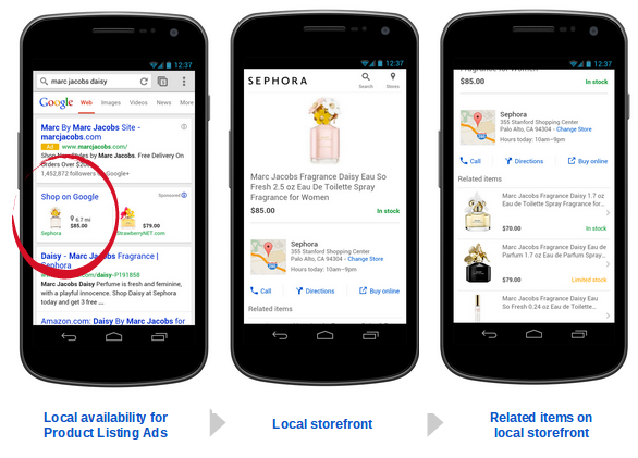 Lokales Google Shopping Smartphone