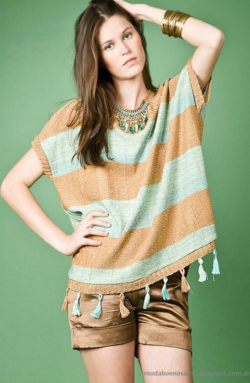 Moda Tejidos verano 2014. Sweaters Agostina Bianchi primavera verano 2014 colección.