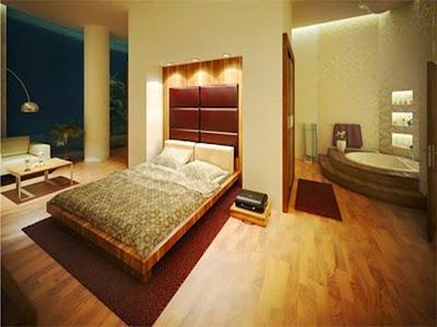 Desain Keramik Kamar Tidur Minimalis Motif Kayu