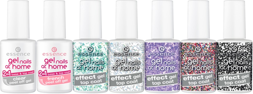 Gel Nails at Home 2in1 Clear Peel Off Gel Base Top Coat 2in1 Clear Peel Off Gel Base