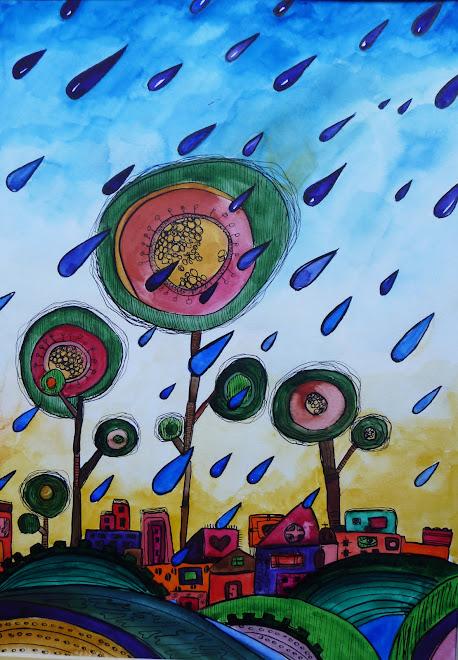Rain 30 x 40 cm