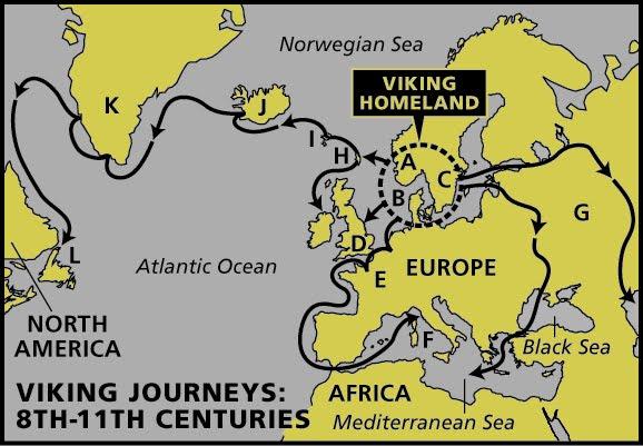 план захвата викингами стран