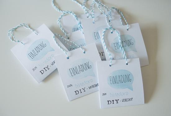 binedoro Blog - Einladung - DIY Workshop
