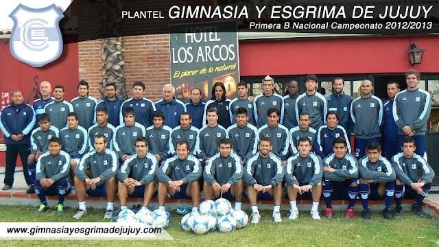 Plantel Gimnasia y Esgrima de Jujuy 2012/2013