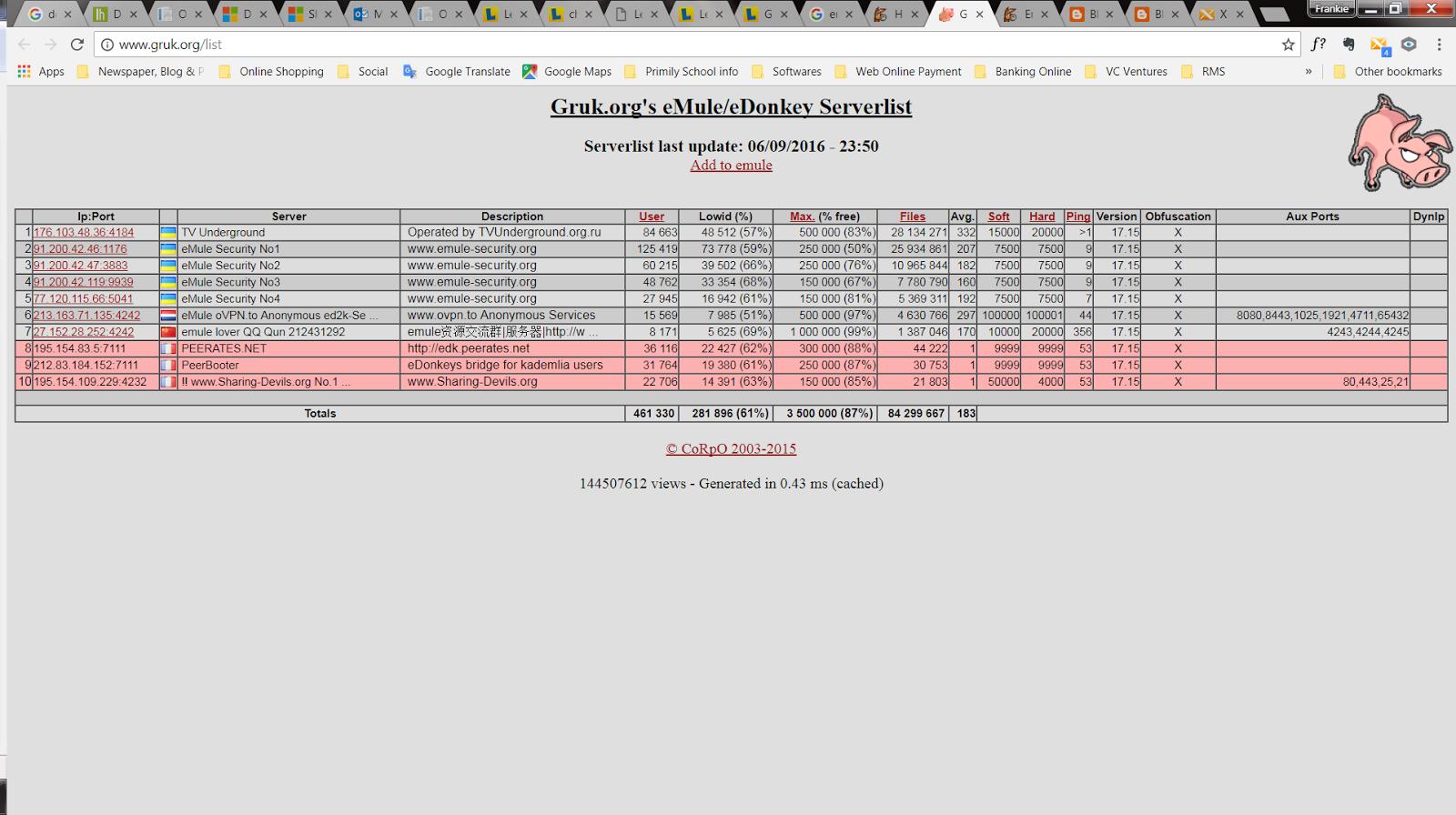 emule v0 50a server list