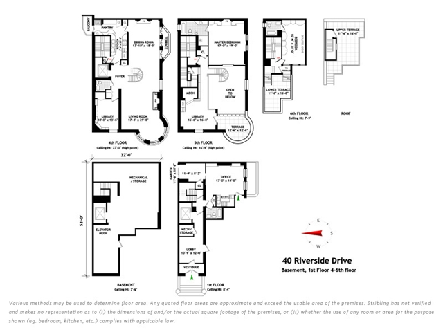 Triplex penthouse floor plans