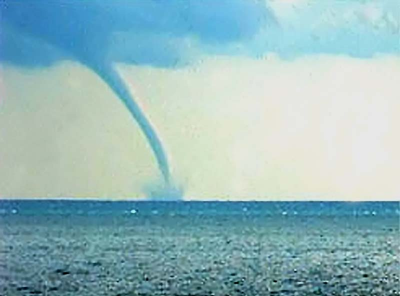 water spouts A waterspout is a column of rotating, cloud-filled wind a waterspout descends from a cumulus cloud to an ocean or a lake.