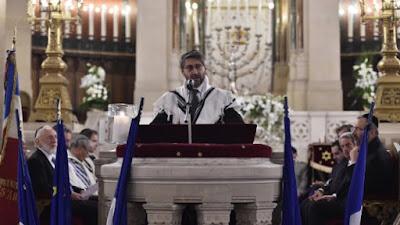 Homenaje a las víctimas de los atentados en la Gran Sinagoga de París