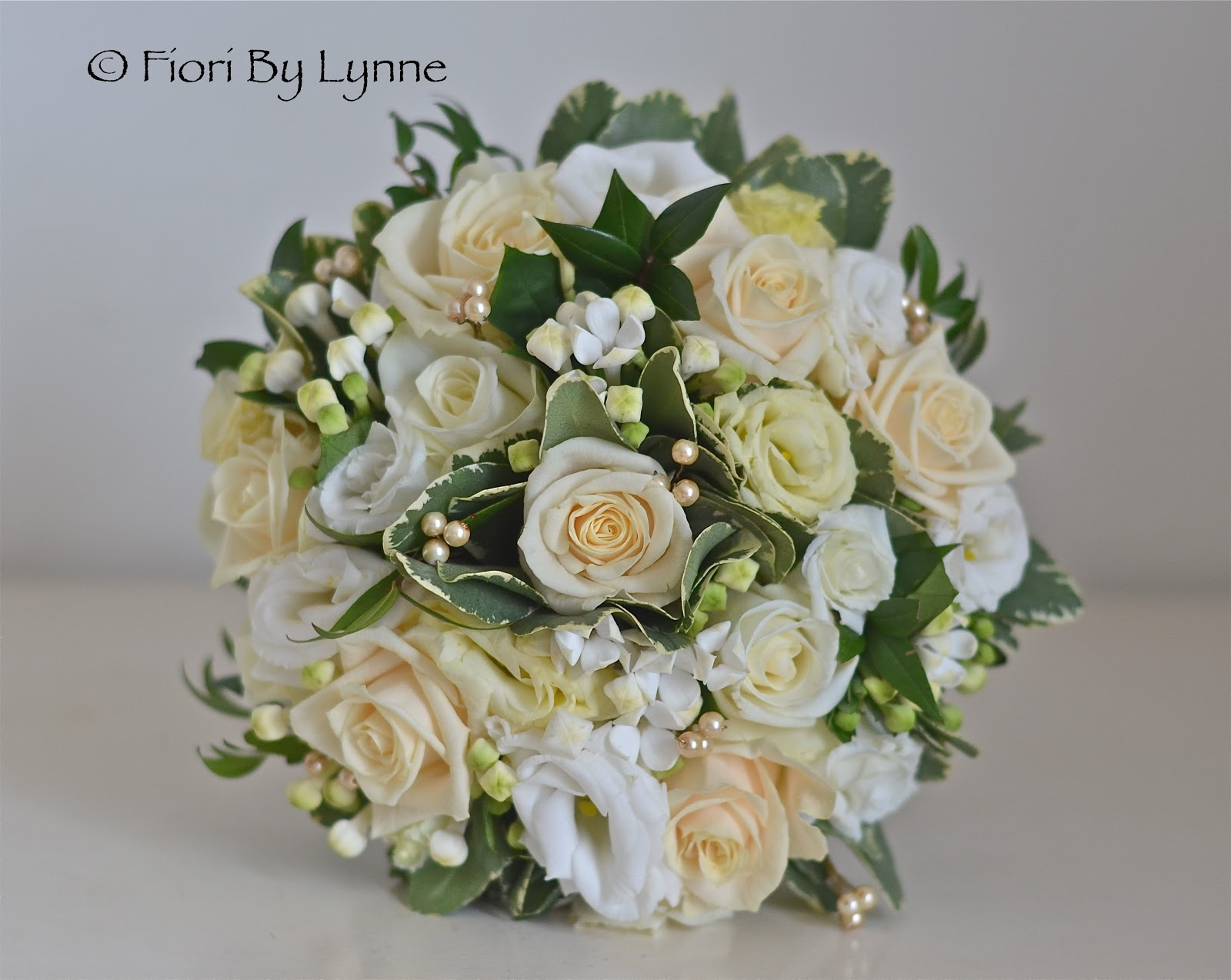 Champagne Roses Wedding Flowers