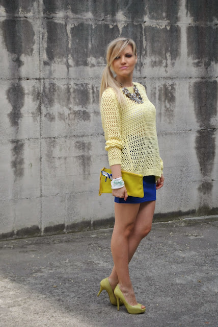 gonna blu ooutfit gonna blu outfit giallo outfit blu outfit giallo e blu come abbinare il giallo abbinamenti giallo come abbinare il blu abbinamenti blu mariafelicia magno fashion blogger colorblock by felym mariafelicia magno fashion blogger outfit primaverili outfit maggio 2015 outfit gonna blu come abbinare la gonna blu abbinamenti gonna blu blue outfit yellow outfit yellow swaeter blue skirt spring outfit fashion bloggers italy maglione giallo outfit gonna blu blog di moda blogger italiane di moda milano guess majique massimiliano incas