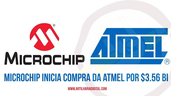 Microchip inicia compra da Atmel por $3.56 Bilhões.