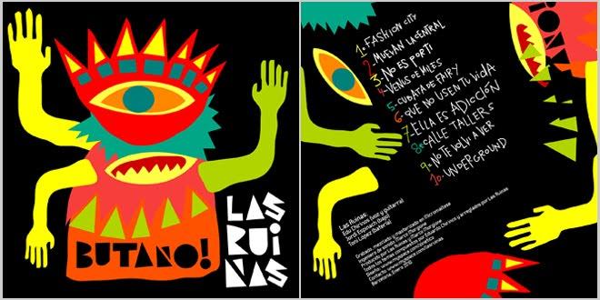 """Diseño para el cd de Las Ruinas """"Butano!"""" 2010"""