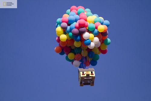 Casa Flotando con Globos Como up de Pixar