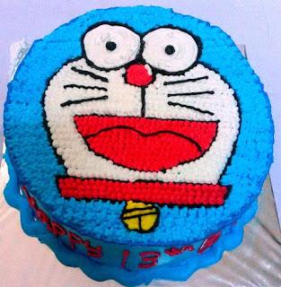 Bentuk Kue Ulang Tahun Anak Doraemon