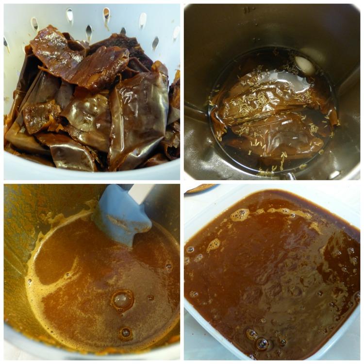 Elaboración de la salsa de chile guajillo