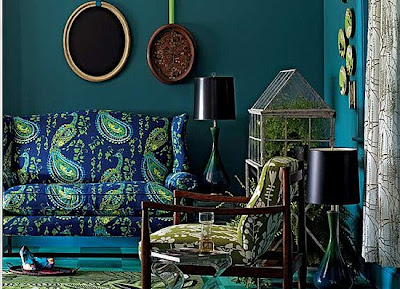 style inspiration peacock blue to deep teal walls swoon worthy. Black Bedroom Furniture Sets. Home Design Ideas