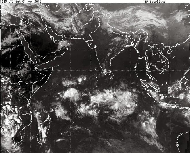 Prévision météo réunion 974 - Images satellites
