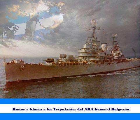 HONOR Y GLORIA A LOS TRIPULANTES DE ARA BELGRANO - 1982.
