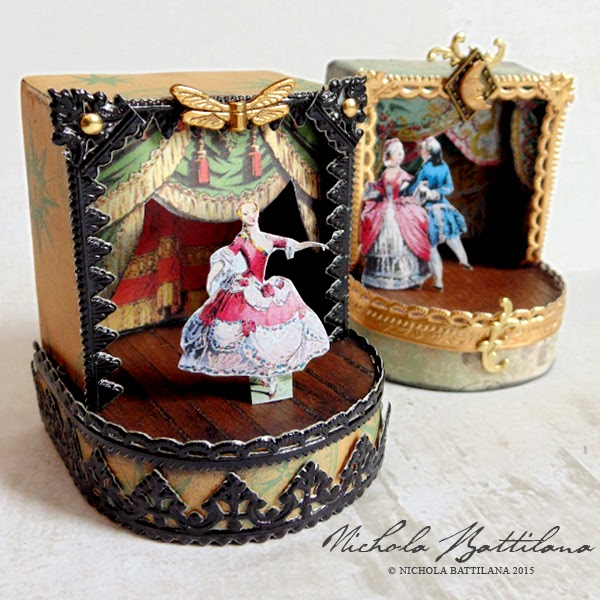 Ornate miniature theatres with tutorial - Nichola Battilana