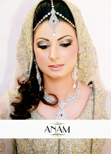 PakistaniBridalMakeupPictures2014 004 wwwshe stylesblogspotcom - Bridal Makeup Pictures 2014 by Anam.