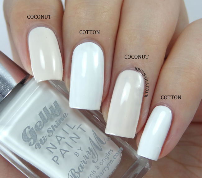 Barry M Cotton Coconut Comparison