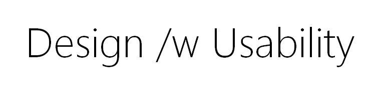 Design /w Usability
