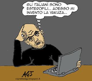 Saviano, De Luca, camorra satira vignetta