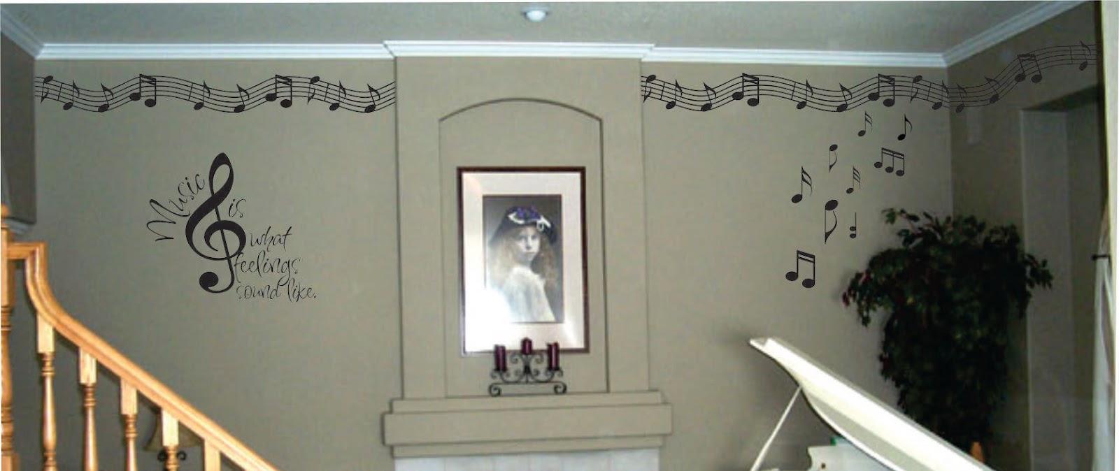 Walls that talk music room decorating ideas for Music room decor diy