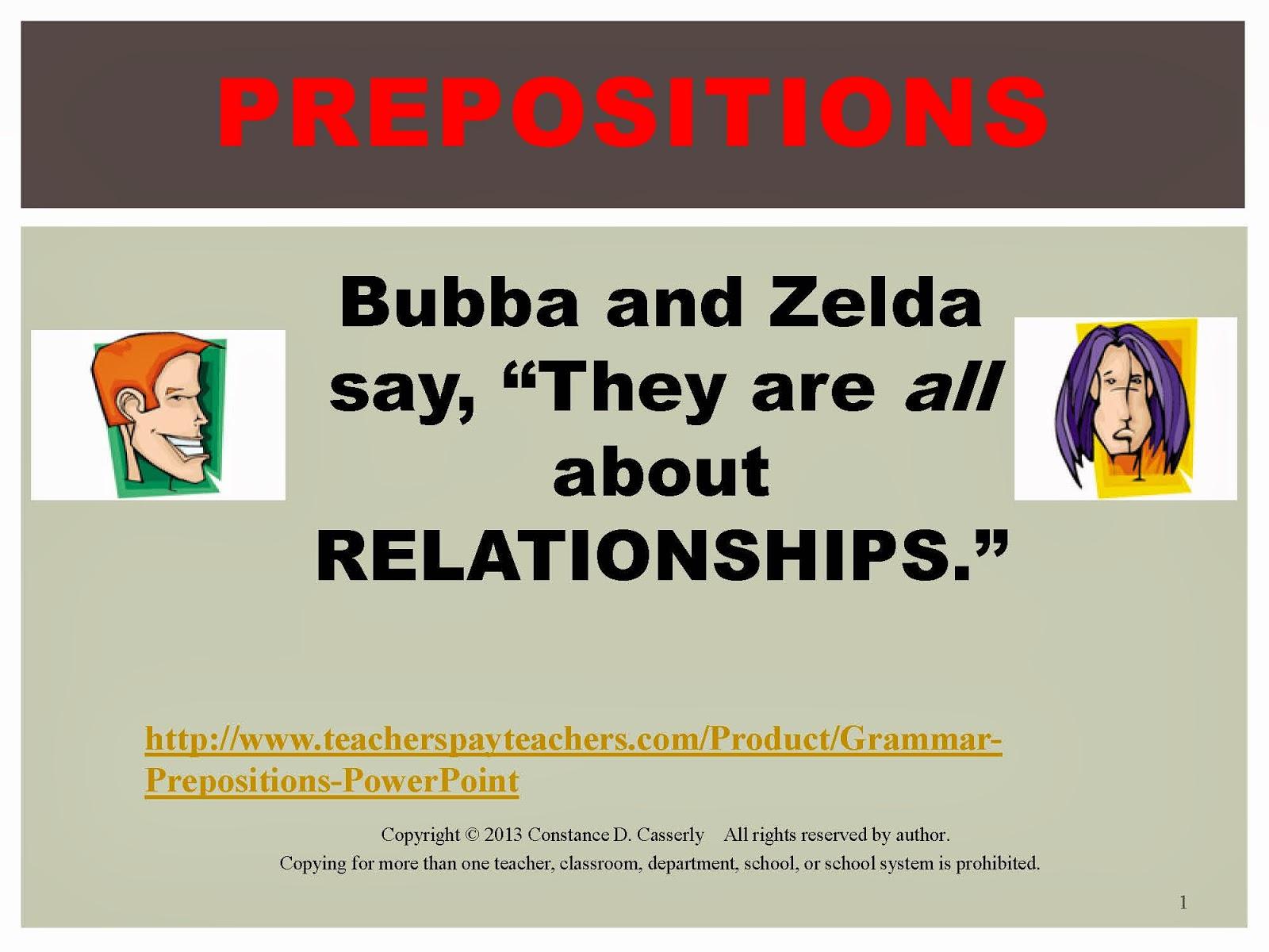 Grammar: Prepositions PowerPoint