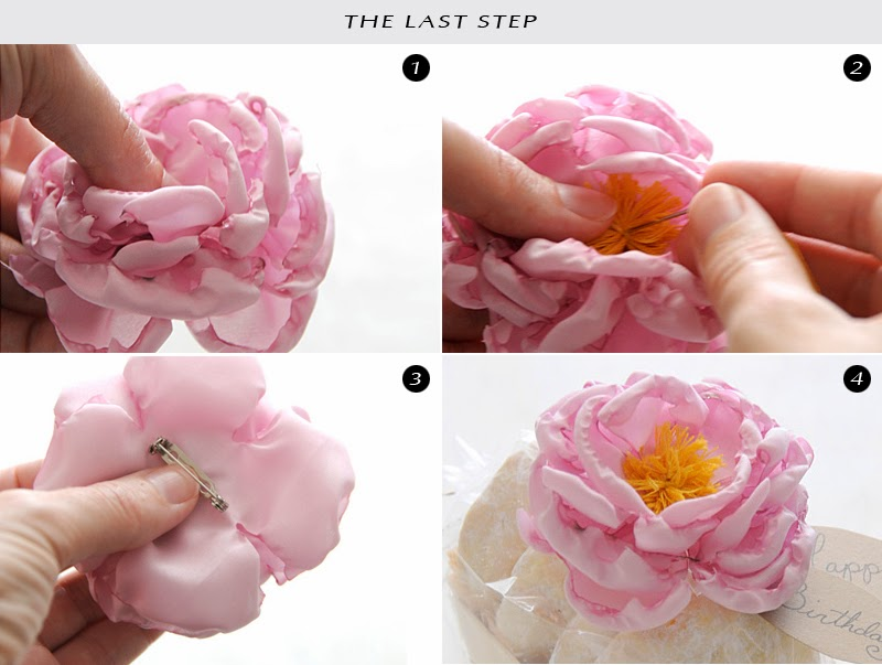 Okajewelry show diy fabric flower brooch tutorial collection the pink peony flower brooches is absolutely a perfect accessory to catch attention and they look beautiful elegant and trendy all at the same time mightylinksfo
