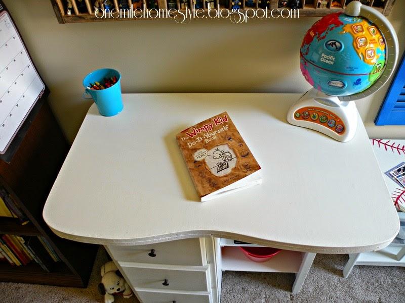 Vintage Kids Desk Makeover - After