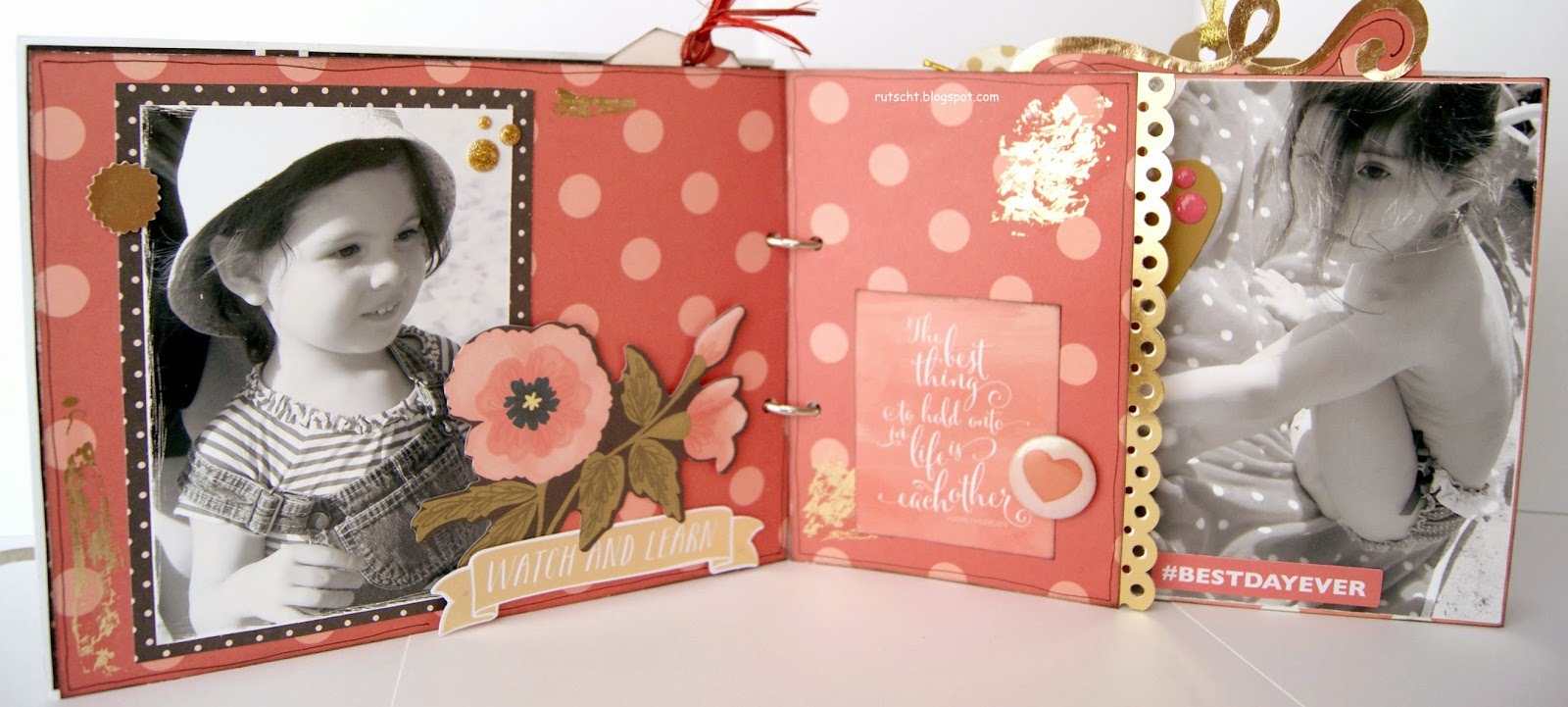 Rutscht awesome mini lbum de scrapbooking - Como hacer un album scrapbook ...