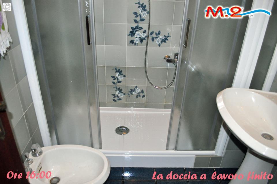 Da vasca con muretto a doccia | M.2 Trasformazione vasca in doccia e ...