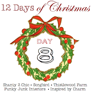 12 Days of Christmas, Day 8 via Funky Junk Interiors