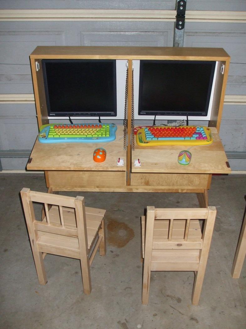 Kids shoebox dual computer cabinet ikea hackers ikea for Ikea computer cabinet
